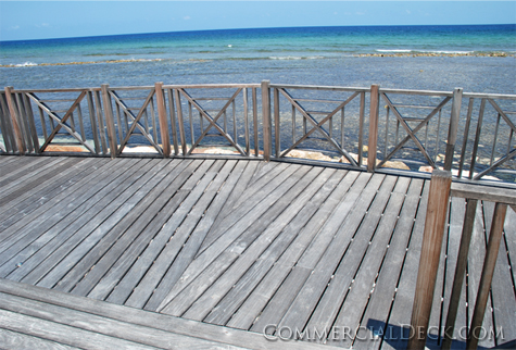 Commercial Deck in Jamaican Resort